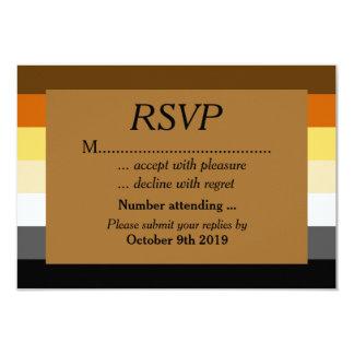Orgulho do urso do ouro que Wedding RSVP para Convite 8.89 X 12.7cm