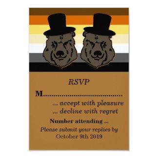 Orgulho do urso que Wedding RSVP para noivos Convite 8.89 X 12.7cm