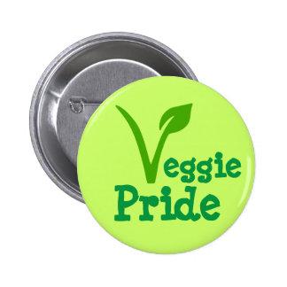 orgulho do vegetariano, vegan, vegetariano, bóton redondo 5.08cm