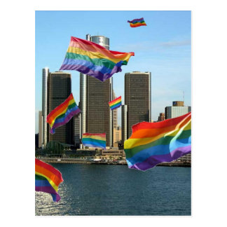 Orgulho do vôo de Detroit Cartão Postal