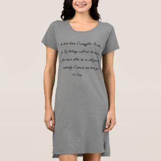 """Orgulho e preconceito """"em vão"""" vestido da camisa"""