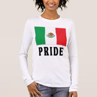 Orgulho mexicano camiseta manga longa