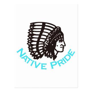 Orgulho nativo cartão postal