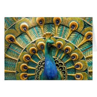 Orgulhoso como cartões de nota do pavão