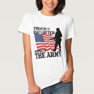 Orgulhoso de minha filha t-shirts
