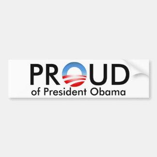 Orgulhoso de Obama Adesivo Para Carro