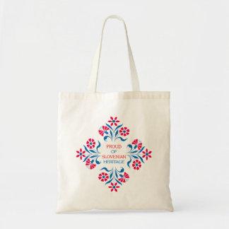 Orgulhoso do saco esloveno da herança bolsa para compras