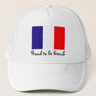 Orgulhoso ser boné francês da bola da bandeira