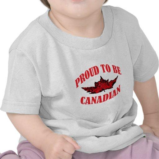 Orgulhoso ser canadense tshirts