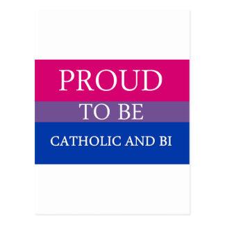 Orgulhoso ser católico e Bi Cartão Postal