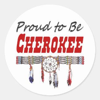 Orgulhoso ser decalque ou etiquetas Cherokee da
