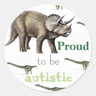 Orgulhoso ser etiqueta autística do dinossauro