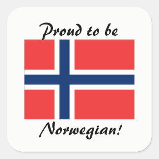 Orgulhoso ser etiquetas norueguesas