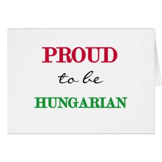 Orgulhoso ser húngaro cartões