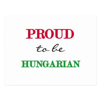 Orgulhoso ser húngaro cartao postal