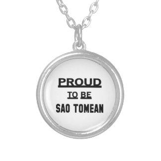 Orgulhoso ser Sao Tomean Colar Banhado A Prata