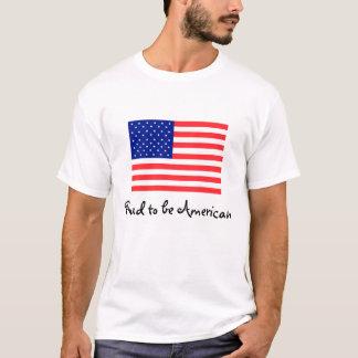 Orgulhoso ser t-shirt da bandeira americana camiseta