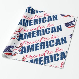 Orgulhoso ser um americano papel de presente