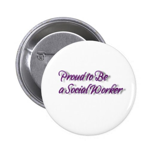 Orgulhoso ser um assistente social! bóton redondo 5.08cm