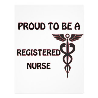 Orgulhoso ser uma enfermeira diplomada flyer 21.59 x 27.94cm