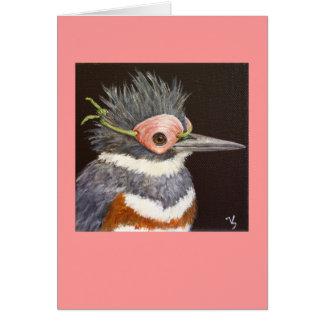 Oriana o cartão mascarado do martinho pescatore