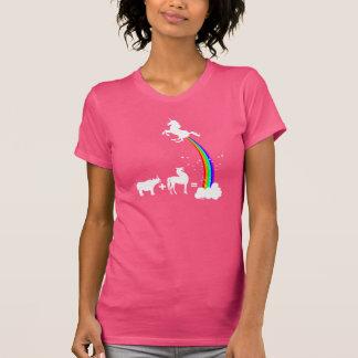 Origem engraçada do unicórnio tshirt