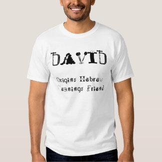 Origem: HebrewMeaning: Amigo, DAVID Camisetas