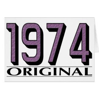 Original 1974 cartão