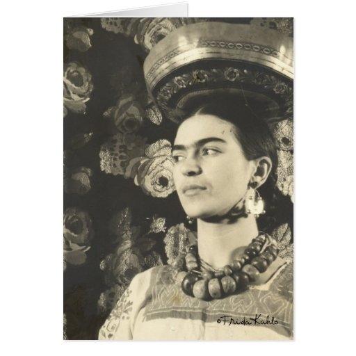 Original de Charola do engodo de Frida Kahlo Cartões