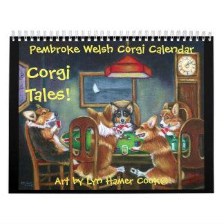 Original do calendário dos contos do Corgi do