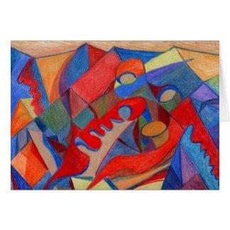 Original do cartão da arte abstracta feito em