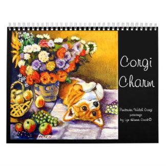 Original do encanto do Corgi do calendário do
