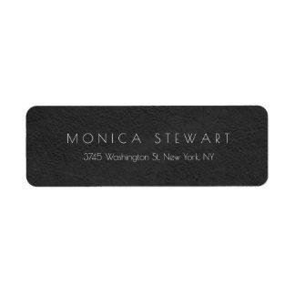 Original pessoal moderno profissional cinzento etiqueta endereço de retorno
