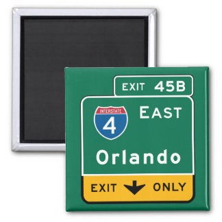 Orlando, sinal de estrada de FL Imãs De Geladeira