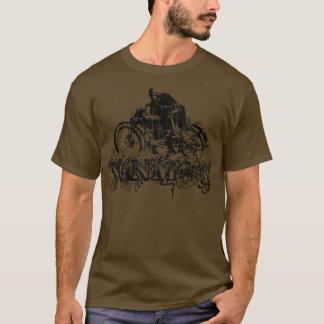 Ornamentado de Vinmot (preto do vintage) Camiseta