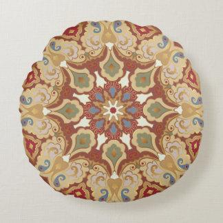 Ornamentado, travesseiro oriental da mandala almofada redonda