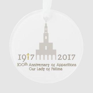 Ornamento 10o Aniversário das aparições - Fatima Portugal