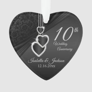 Ornamento 10o Design 2 da lembrança do aniversário de