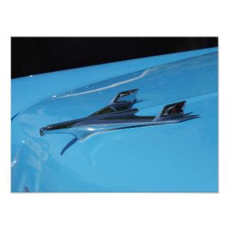 Ornamento 1956 da capa do Bel Air de Chevrolet Impressão De Foto