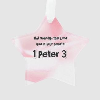 Ornamento 1 capítulo 3 de Peter mas sanctify o senhor Deus