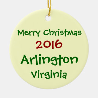 ORNAMENTO 2016 DO FELIZ NATAL DE ARLINGTON