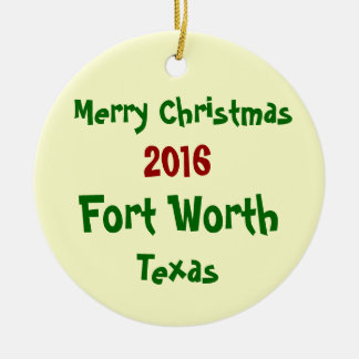 ORNAMENTO 2016 do FELIZ NATAL de Fort Worth Texas