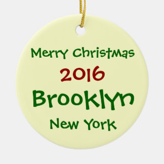 ORNAMENTO 2016 DO FELIZ NATAL DE NEW YORK BROOKLYN