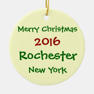 ORNAMENTO 2016 DO FELIZ NATAL DE ROCHESTER NEW