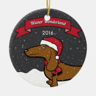 Ornamento 2016 do país das maravilhas do Wiener de