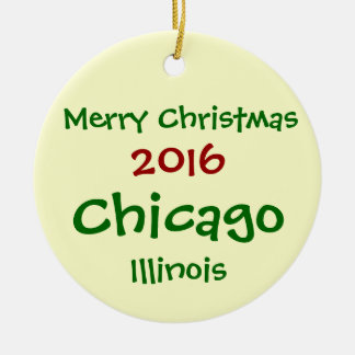 ORNAMENTO 2016 NOVO DO FELIZ NATAL DE CHICAGO