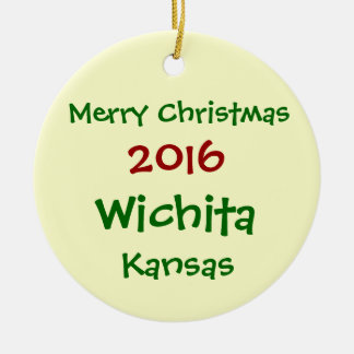 ORNAMENTO 2016 NOVO DO FELIZ NATAL DE WICHITA