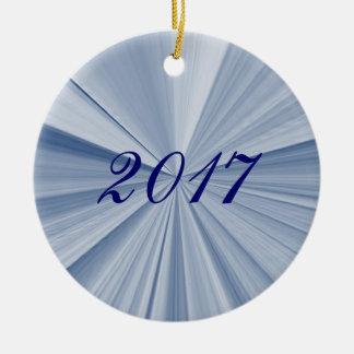 Ornamento 2017 azul da lembrança da estrela do