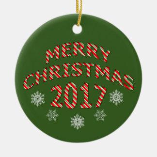 Ornamento 2017 da guarnição da árvore do Feliz