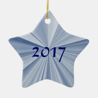 Ornamento 2017 da lembrança da estrela azul do
